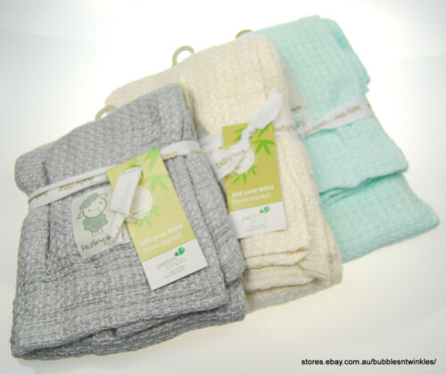 Baby BAMBOO Knitted Blanket / Throw 'Perlimpinpin' Brand Soft & Light 92x92cm