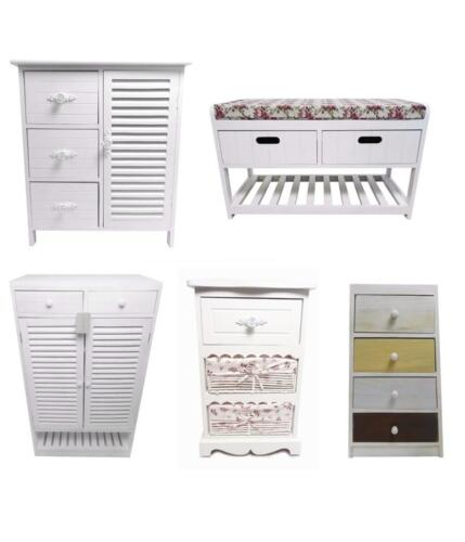 Kids Assembled White Chest of Drawers Hallway Bedside Table Storage Unit Cabinet