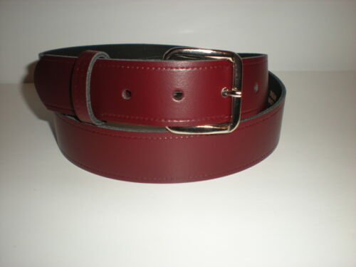 Burgundy leather belts suitable for men and women from small to XX large sizes