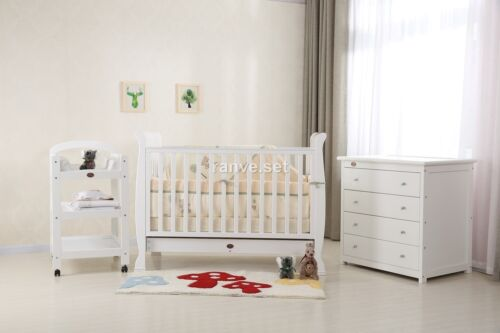 SLEIGH COT PACKAGE - COT/CRIB,CHANGE TABLE,CHEST OF DRAWER , BABY MAT &amp; MATTRESS <br/> $699 FOR PICKUP FROM BRISBANE,MELBOURNE &amp; SYDNEY