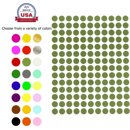Color Coded Stickers 3/8 Labels Round Small Dots 0.375 Inch Circle 10mm 700 PACK <br/> DOTS TICKERS COLORED CODING LABELS BY ROYAL GREEN