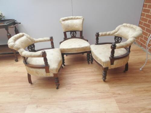 Lovely 3 piece ANTIQUE Bedroom LOUNGE Suite CHAIR set AMAZING condition Adelaide