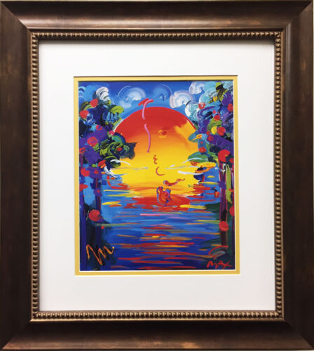 "Peter Max ""Better World"" NEWLY CUSTOM FRAMED Print Art POP psychedelic Neo"