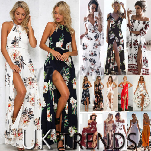 UK Womens Holiday Sleeveless Ladies Maxi Long Summer Print Beach Dress Size 6-14 <br/> ❤2019 BRAND NEW STYLE❤UK SAMEDAY DISPATCH ❤FAST &amp; FREE❤