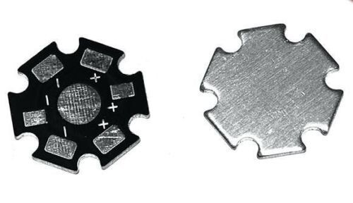 50 pcs heatsink Base plate aluminium star heat sink PCB for 1W 3W LED diode <br/> **Price Includes GST** Suitable for 1w 3w power led