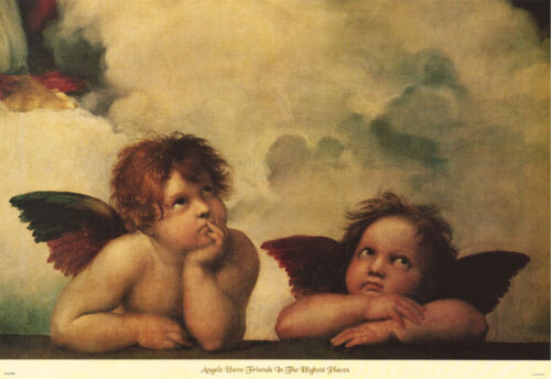 LOT OF 2 POSTERS :ART: ANGELS HAVE FRIENDS IN HIGH PLACES     #A2106      LP57 O