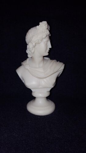 Apollo bust Ancient Greek Statue bonded alabaster God of Light and Sun