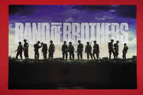 Band of Brothers HBO WWII Movie Poster 24X36 Tom Hardy, Damian Lewis  NEW   BOFB