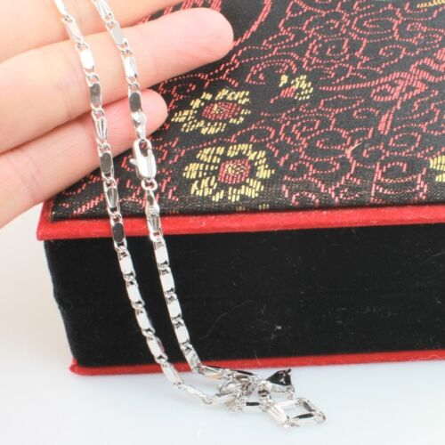 45 cm White Gold Filled Silver Toned Byzantine Chain, 18 inches