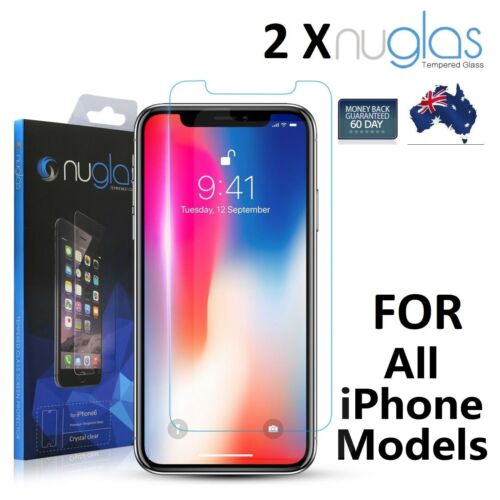 2X Genuine NUGLAS Tempered Glass Screen Protector for Apple iPhone 8 7 6 6S Plus <br/> NEW iPhone X and iPhone 8 Models in stock now