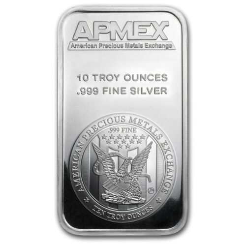 10 oz APMEX Silver Bar .999 Fine - SKU #88929 <br/> Buy with confidence &amp; Free Shipping from APMEX on eBay!