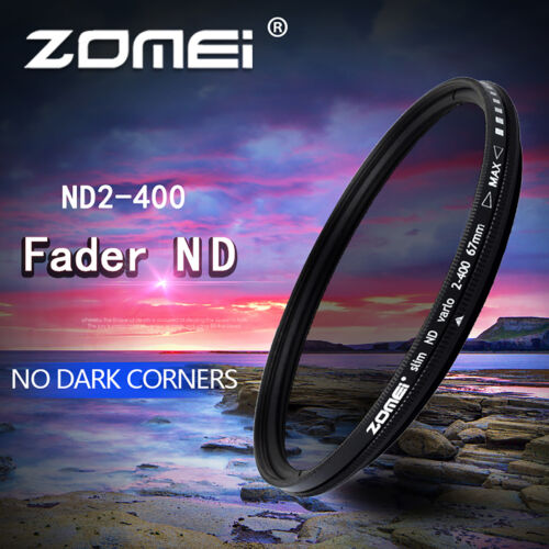 49/52/55/58/62/67/72/77/82mm ND2-400 Filter Slim Fader Variable ND for Camera <br/> ZOMEI Brand!AU Stock!Free Shipping!Fader ND2-ND400!