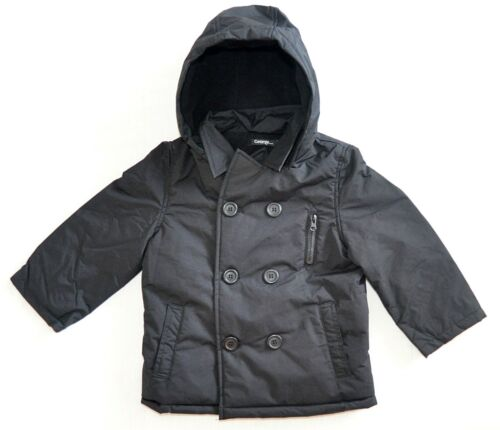 Boys Jacket GEORGE Brand Sizes  M, L Quality Black Outdoor Hoodie NEW Ages 2-12
