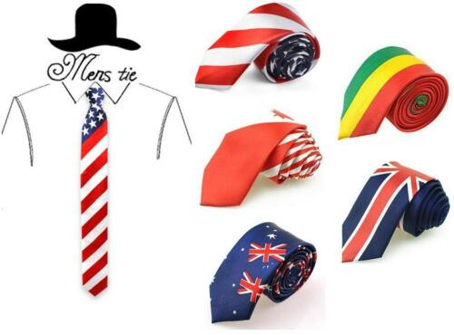 USA UK Australian British American Union Jack Canada Bolivia Flag Tie Neckties