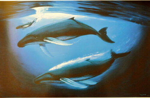 WYLAND LITHOGRAPH A SEA OF LIFE SIGNED/#713/750 W/COA BEAUTIFUL WHALES