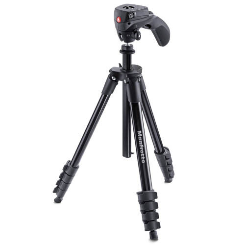 Manfrotto Compact Action Tripod (MKCOMPACTACN-BK) with GEN MANFROTTO WARR <br/> 60 YEARS Retailing. Trusted by 1 MILLION AUSTRALIANS