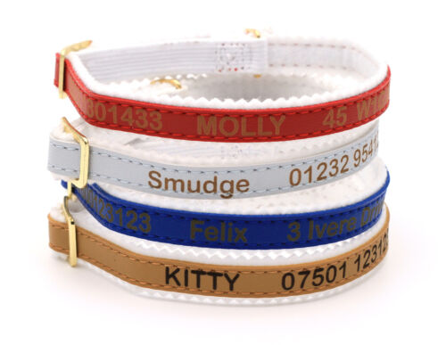 Personalised Cat Kitten Collar ID Tag, Ancol Quality, Laser Engraved, UK made <br/> FREE FAST SHIPPING