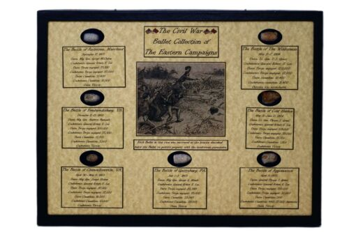 The Civil War Bullet Collection of The Eastern Campaigns with COABullets - 103996