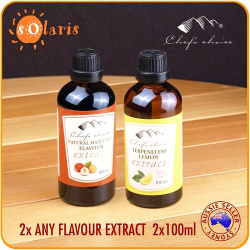 2x 100ml Natural Flavour Extracts Banana Cinnamon Coffee Coconut Hazelnut Lemon