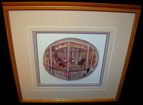 """P. Buckley Moss """"The Childrens Museum Carousel"""" Amish Lithograph Print Signed"""