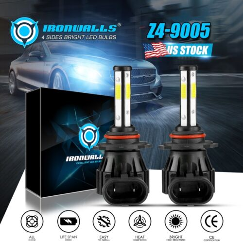 Cree 9005 9145 H10 9140 1900W 285000LM LED Headlights Conversion Kit 6000K White <br/> 4 Sides✔US STOCK✔5 YEARS WARRANTY✔Super Bright✔C.E DOT✔
