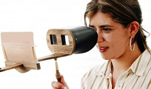 Stereoscope Holmes Viewer ASSEMBLED Folding Handle for StereoCards and Prints