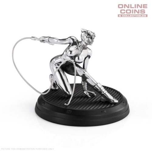 """DC Comics Pewter Catwoman 4"""" Figurine - Officially Licensed by Royal Selangor"""