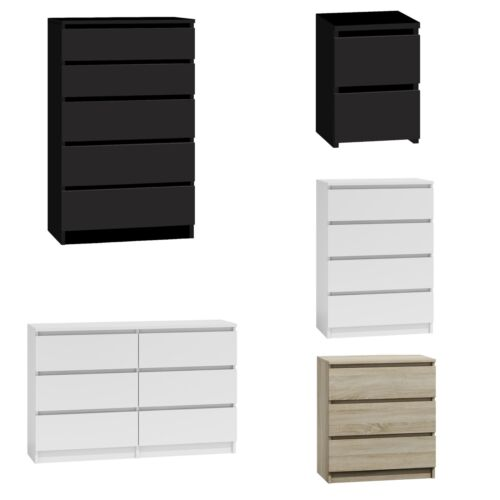 Chest of Drawers White|Black|Oak Bedroom Furniture Tall Wide Storage 3|4|5|6Draw <br/> ORDER RCD BY 14:30 DISPATCHED SAME WEEKDAY - OVERNIGHT!