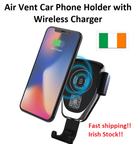 10W Car Phone Holder Qi Wireless Charger for Samsung S7 S8 S6 iPhone X 8 8Plus