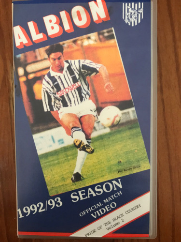 ALBION 1992/93 OFFICIAL MATCH VIDEO VOL 2 WEST BROMWICH FOOTBALL AS NEW PAL VHS
