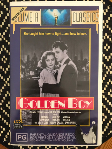 GOLDEN BOY WILLIAM HOLDEN BARBARA STANWYCK  NOT A CHINESE COPY PAL VHS VIDEO