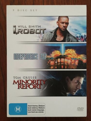 i, Robot / Independence Day / Minority Report DVD (3 Disc Set) *Region 4