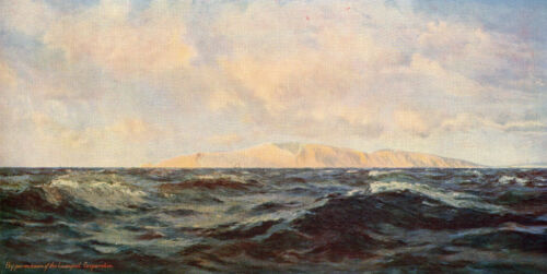 HENRY MOORE 1888 Oil Painting NEARING THE NEEDLES Vintage Art 1930 Book Print