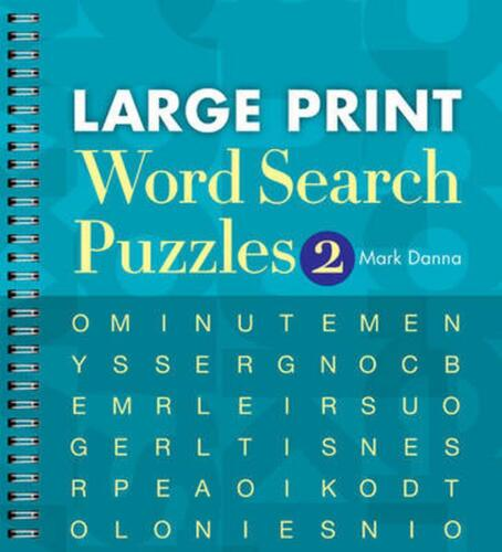 Large Print Word Search Puzzles 2 by Mark Danna (English) Paperback Book Free Sh