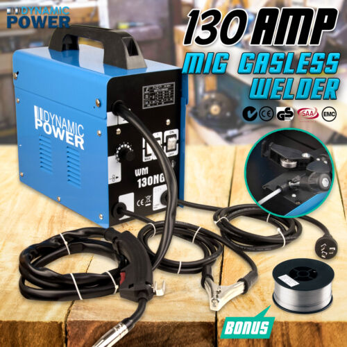 130Amp MIG Gasless Welder Welding Machine Tool 10Amp Plug DYNAMIC POWER <br/> EXTRA 5% off by spend $30, enter C5AUS at checkout!
