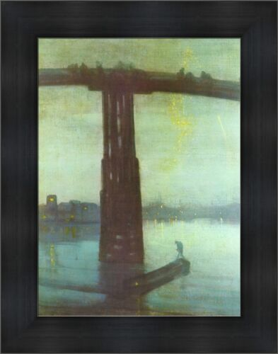 "James Abbott Whistler Nocturne Blue Gold Old Battersea Bridge 21""x27"" (V11-24)"