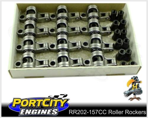 """Crow Cam Roller Rockers Holden 6cyl 179 186 202 Red Blue Black 7/16"""" RR202-157CC"""