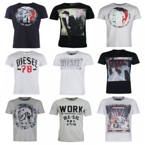 Diesel Adult Mens Designer Short Sleeved T Shirt Top Sizes S-XXL 19 Styles New <br/> 19 Different Designs and 5 Sizes To Choose From