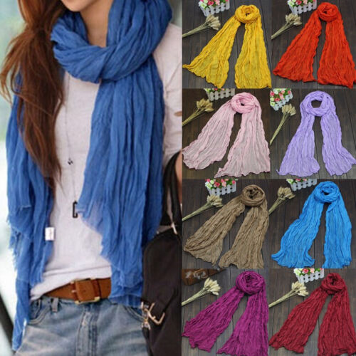Ladies Soft Long Voile Scarfs Winter Warm Scarf Women Scarf Shawl 20 Colors