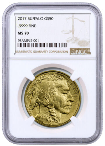 2017 $50 1 oz. American Gold Buffalo NGC MS70 SKU44857 <br/> BUY WITH CONFIDENCE &amp; FREE SHIPPING FROM MCM