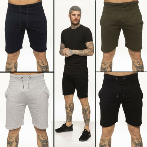 Mens Fleece Shorts Summer Jogging Elasticated Waist Sports Running Jersey Shorts