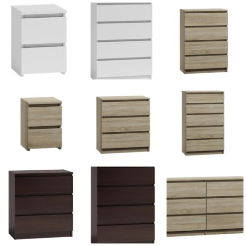 MODERNA - Chest Of Drawers And Bed Side Cabinet Range <br/> Modern Contemporary Furniture - 22 Different Style&#039;s