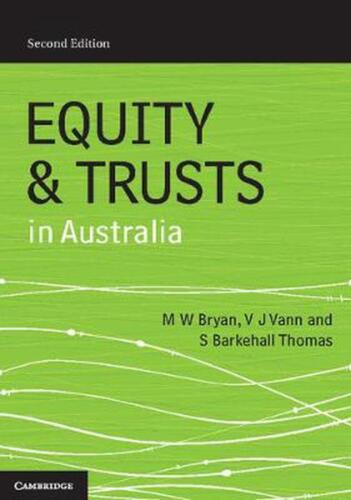 Equity and Trusts in Australia 2nd Edition by Michael Bryan Paperback Book Free