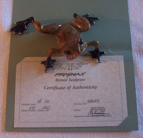 """TOADY"" by Frogman Tim Cotterill Limited Edition Bronze Frog"
