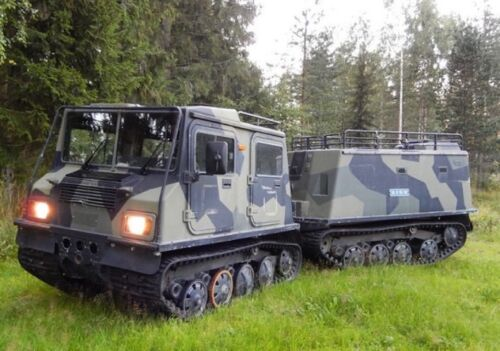 Sisu Nasu NA140 Tracked Amphibious Personnel Carrier 40mph 17 passenger vehicle <br/> Similar to the Hagglunds BV206 Only Bigger and Faster!
