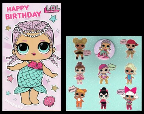 LOL SURPRISE ~ OFFICIAL BIRTHDAY CARD ~ Suprise Genuine selection to Choose from