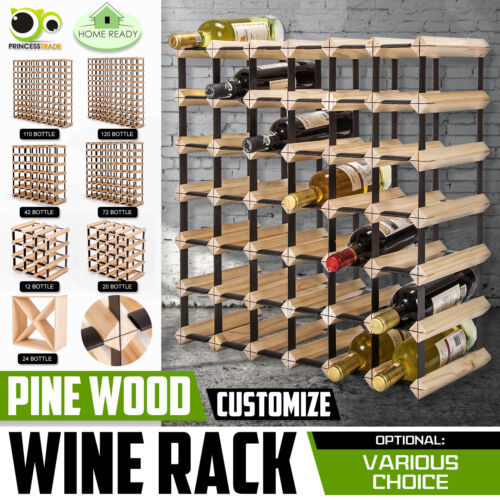 12 20 24 42 72 120 Bottle Timber Wine Rack Wooden Storage System Cellar Display <br/> 5% off with code P5OFF . Ends 31 Dec. T&amp;Cs apply.
