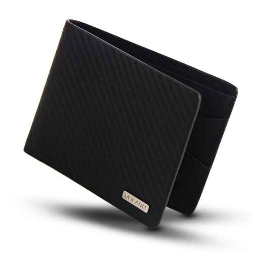 MENS WALLET RFID BLACK GENUINE CARBON FIBER LEATHER  SLIM MENS BIFOLD <br/> GIFT BOX AVAILABLE FOR ADDITIONAL $4.97 CONTACT US