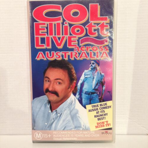 COL ELLIOTT LIVE ~ ACROSS AUSTRALIA ~ TRUE BLUE AUSSIE COMEDY ~ AS NEW VHS VIDEO