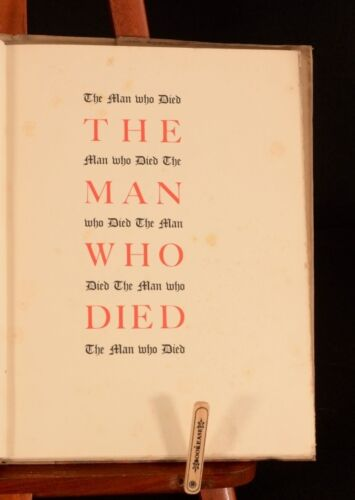 1935 D H Lawrence The Man Who Died 1st Edition Thus Illustrated by Farleigh